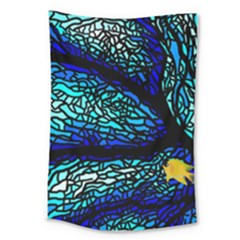 Sea Coral Stained Glass Large Tapestry