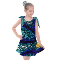 Sea Coral Stained Glass Kids  Tie Up Tunic Dress