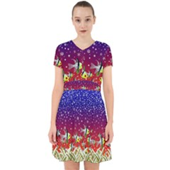 Sea Snow Christmas Coral Fish Adorable In Chiffon Dress
