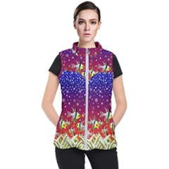 Sea Snow Christmas Coral Fish Women s Puffer Vest