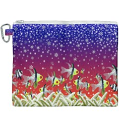 Sea Snow Christmas Coral Fish Canvas Cosmetic Bag (xxxl)