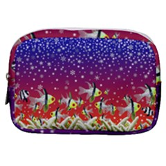 Sea Snow Christmas Coral Fish Make Up Pouch (small)