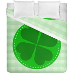 Shamrock Luck Day Duvet Cover Double Side (california King Size) by HermanTelo