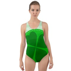 Shamrock Luck Day Cut Out Back One Piece Swimsuit