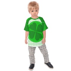Shamrock Luck Day Kids  Raglan Tee