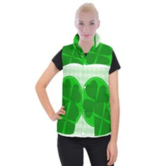 Shamrock Luck Day Women s Button Up Vest by HermanTelo