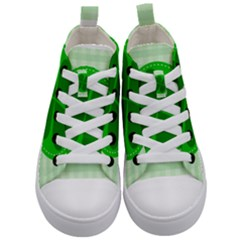 Shamrock Luck Day Kids  Mid Top Canvas Sneakers