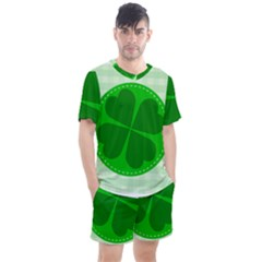 Shamrock Luck Day Men s Mesh Tee And Shorts Set