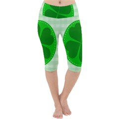Shamrock Luck Day Lightweight Velour Cropped Yoga Leggings