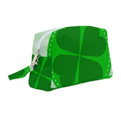 Shamrock Luck Day Wristlet Pouch Bag (medium) by HermanTelo