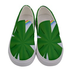 Shamrock Clover Saint Patrick Leaves Women s Canvas Slip Ons
