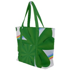 Shamrock Clover Saint Patrick Leaves Zip Up Canvas Bag