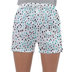 Seamless Texture Fill Polka Dots Sleepwear Shorts