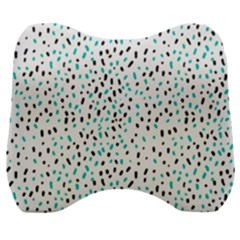 Seamless Texture Fill Polka Dots Velour Head Support Cushion