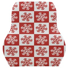 Snowflake Red White Car Seat Back Cushion