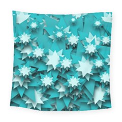 Stars Christmas Ice 3d Square Tapestry (large)