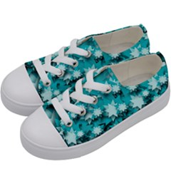 Stars Christmas Ice 3d Kids  Low Top Canvas Sneakers by HermanTelo