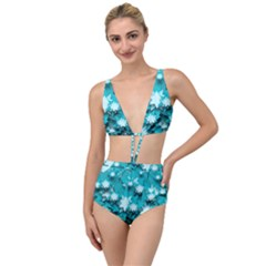 Stars Christmas Ice 3d Tied Up Two Piece Swimsuit by HermanTelo