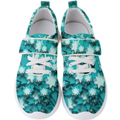 Stars Christmas Ice 3d Men s Velcro Strap Shoes by HermanTelo