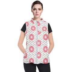 Stamping Pattern Red Women s Puffer Vest by HermanTelo