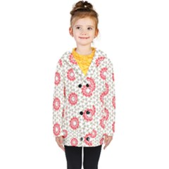 Stamping Pattern Red Kids  Double Breasted Button Coat by HermanTelo