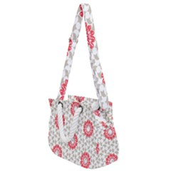 Stamping Pattern Red Rope Handles Shoulder Strap Bag by HermanTelo