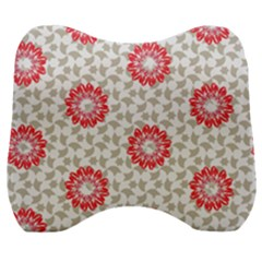 Stamping Pattern Red Velour Head Support Cushion