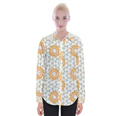 Stamping Pattern Yellow Womens Long Sleeve Shirt by HermanTelo