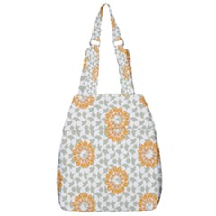 Stamping Pattern Yellow Center Zip Backpack