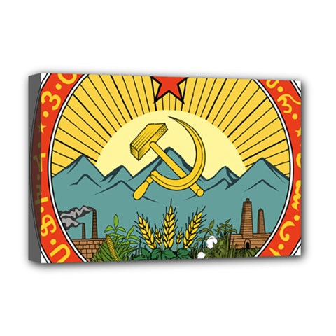 Emblem Of Transcaucasian Socialist Federative Soviet Republic, 1924-1930 Deluxe Canvas 18  X 12  (stretched) by abbeyz71