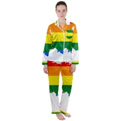 Lgbt Flag Map Of Armenia Satin Long Sleeve Pyjamas Set