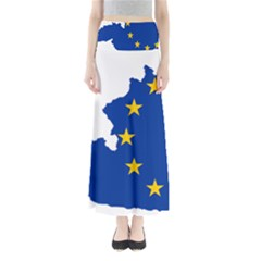 European Union Flag Map Of Austria Full Length Maxi Skirt by abbeyz71
