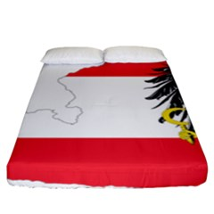 Flag Map Of Austria  Fitted Sheet (king Size) by abbeyz71