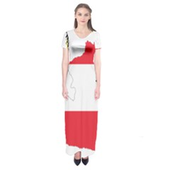 Flag Map Of Austria  Short Sleeve Maxi Dress by abbeyz71