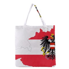 Flag Map Of Austria  Grocery Tote Bag by abbeyz71