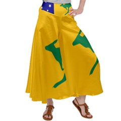 Proposed All Australian Flag Satin Palazzo Pants