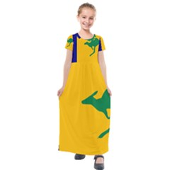 Proposed All Australian Flag Kids  Short Sleeve Maxi Dress by abbeyz71