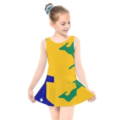 Proposed All Australian Flag Kids  Skater Dress Swimsuit by abbeyz71