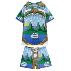 Coat Of Arms Of Costa Rica Kids  Swim Tee And Shorts Set by abbeyz71