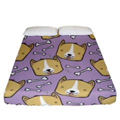 Corgi Pattern Fitted Sheet (queen Size) by Sapixe