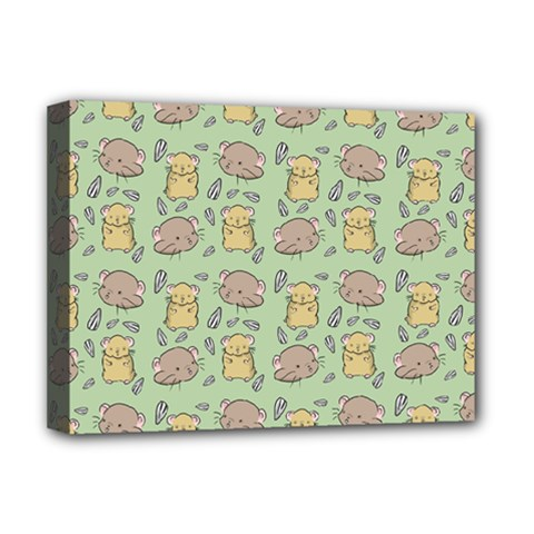 Hamster Pattern Deluxe Canvas 16  X 12  (stretched)  by Sapixe