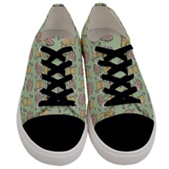 Hamster Pattern Men s Low Top Canvas Sneakers