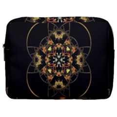 Fractal Stained Glass Ornate Make Up Pouch (large)