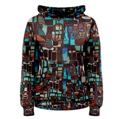 Stained Glass Mosaic Abstract Women s Pullover Hoodie