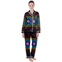 Artskop Kaleidoscope Pattern Satin Long Sleeve Pyjamas Set