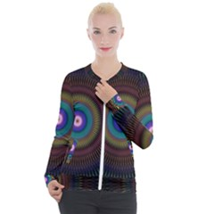 Artskop Kaleidoscope Pattern Casual Zip Up Jacket