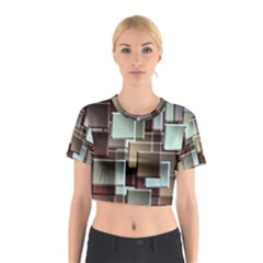 Texture Artwork Mural Murals Art Cotton Crop Top
