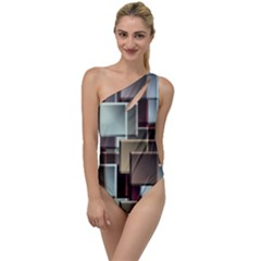 Texture Artwork Mural Murals Art To One Side Swimsuit