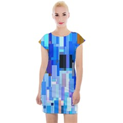 Color Colors Abstract Colorful Cap Sleeve Bodycon Dress