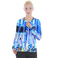 Color Colors Abstract Colorful Casual Zip Up Jacket